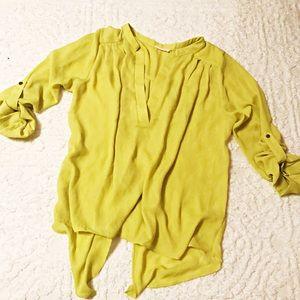 Yellow loose dress blouse
